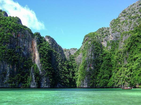 Phi Photograph - Koh Phi Phi Cliffs by Thomas Davis
