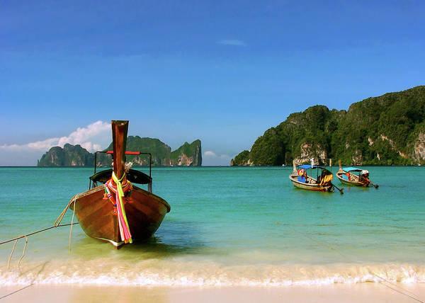 Phi Photograph - Koh Phi Phi Longtails by Adam Jeffery Photography