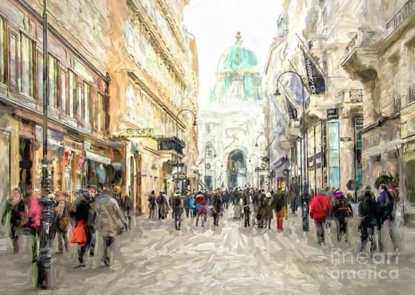 Digital Art - Kohlmarkt In Vienna by Brian Tarr