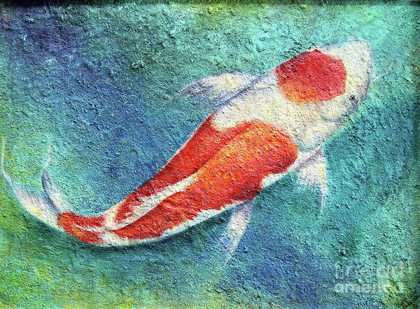 Wall Art - Mixed Media - Koi Fish by Gabriela Valencia