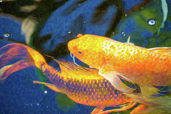 Digital Art - Koi Pond Fish - Free Love - By Omaste Witkowski by Omaste Witkowski