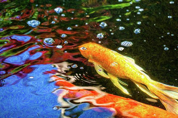 Digital Art - Koi Pond Fish - Glamorous Surprises - By Omaste Witkowski by Omaste Witkowski