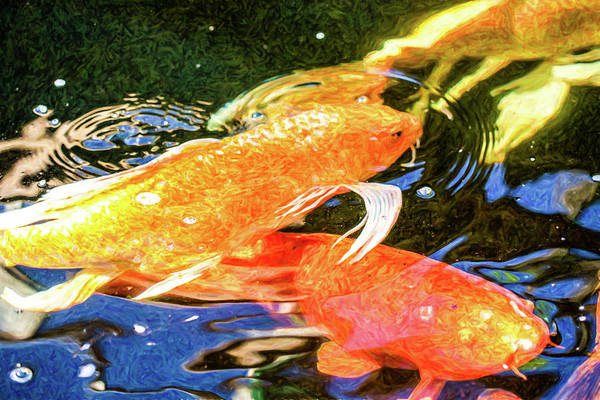 Digital Art - Koi Pond Fish - Passionate Fantasies - By Omaste Witkowski by Omaste Witkowski
