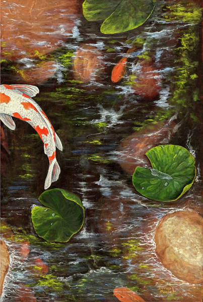 Painting - Koi Pond Right Side by Darice Machel McGuire