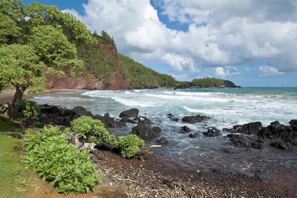 Maui Photograph - Koki Beach Of Black Lava Rock, South Of by John Elk