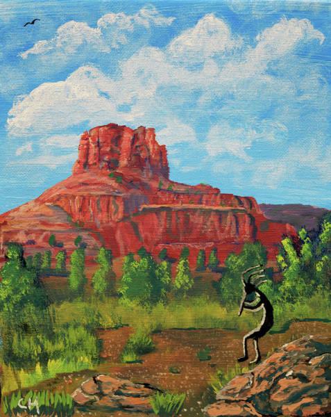 Painting - Kokopelli And Bell Rock, Sedona, Arizona  by Chance Kafka