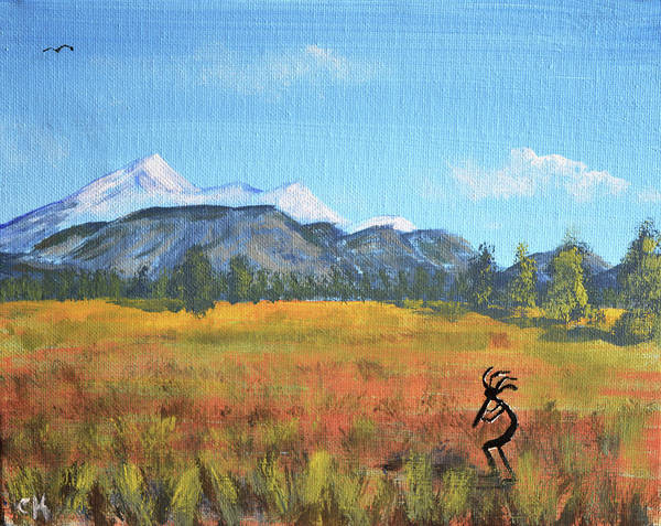 Painting - Kokopelli And The San Francisco Peaks by Chance Kafka