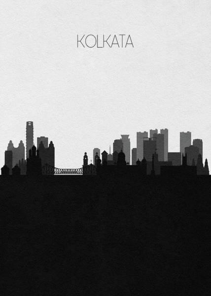 Digital Art - Kolkata Cityscape Art by Inspirowl Design