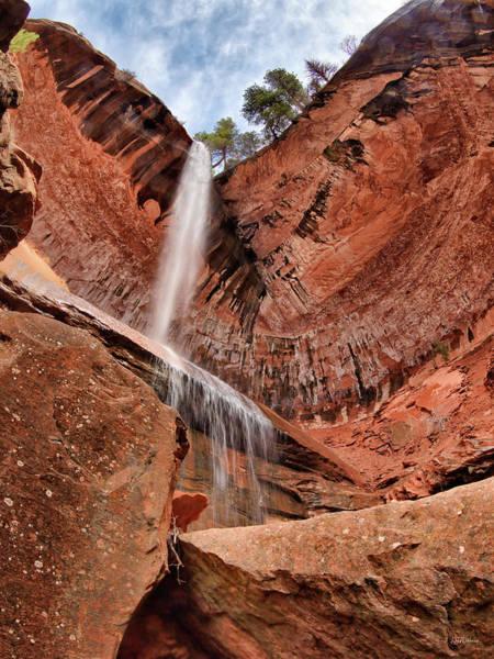 Wall Art - Photograph - Kolob Canyons Falling Waters by Leland D Howard