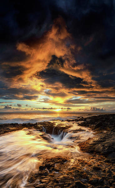Big Island Photograph - Kona Sunset by Christopher Johnson