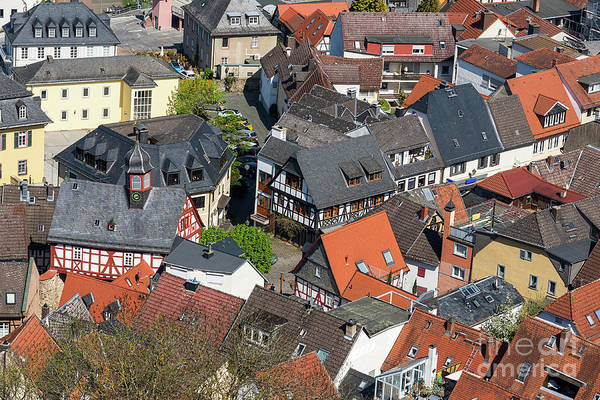 Photograph - Konigstein Roofs by Les Palenik