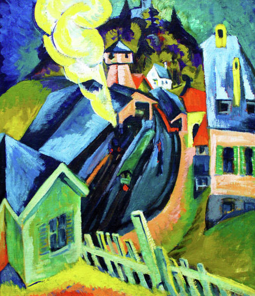 Wall Art - Painting - Konigstein Station - Digital Remastered Edition by Ernst Ludwig Kirchner