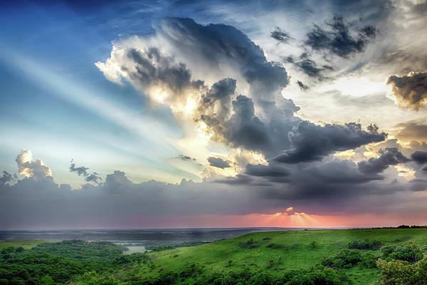 Kansas State University Photograph - Konza Prairie Overlook by James Barber