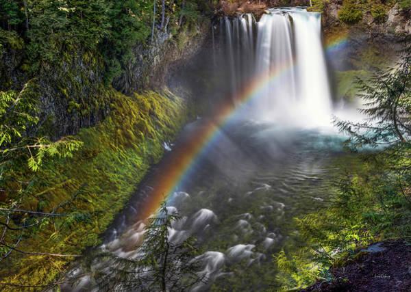 Photograph - Koosah Falls Rainbow by Leland D Howard