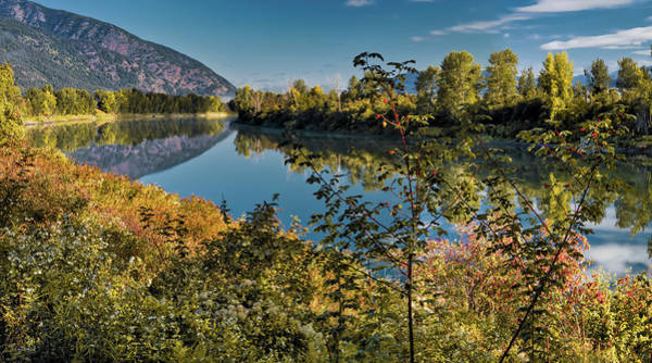 Photograph - Kootenai River Valley Autumn by Leland D Howard