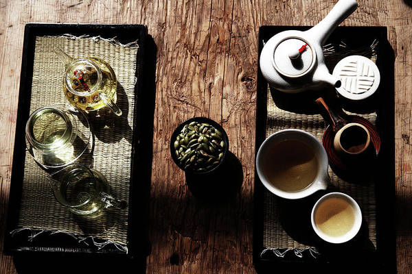 Teapot Photograph - Korea Food,traditional Tea Set by Runphoto