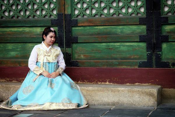 Photograph - Korean Girl In Hanbok by Rick Berk