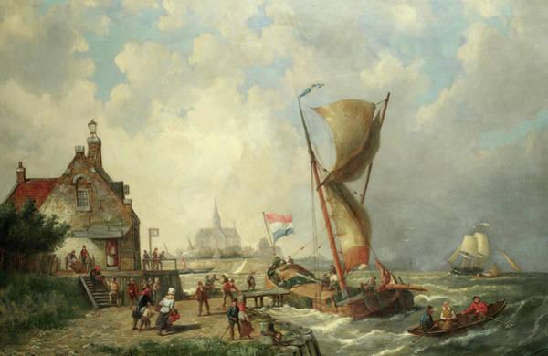 Wall Art - Painting - Koudum, Holland by Pieter Cornelis Dommersen