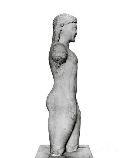 Wall Art - Sculpture - Kouros, From Paros, Near The Sanctuary Of Asklepios by Greek School