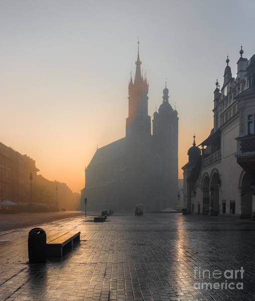 Wall Art - Photograph - Krakow, Poland, St Marys Church And by Tomasz Mazon
