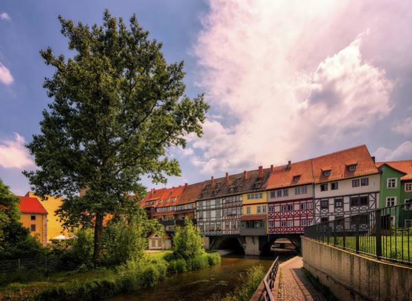 Photograph - Kramerbrucke - Erfurt, Germany by Nico Trinkhaus