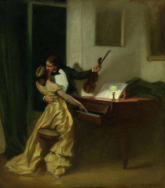 Wall Art - Painting - Kreutzer Sonata, 19th Century by Rene Francois Xavier Prinet