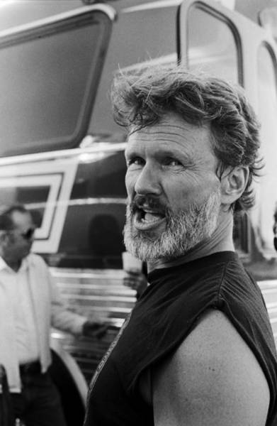 Photograph - Kris Kristofferson Attends Farm Aid II by George Rose