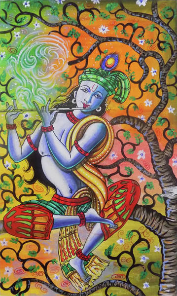 Wall Art - Drawing - Krishna And Radha by Asp Arts