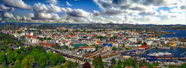 Photograph - Kristiansand Panorama by Anthony Dezenzio