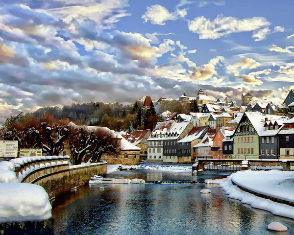 Kronach Winter Scene Art Print
