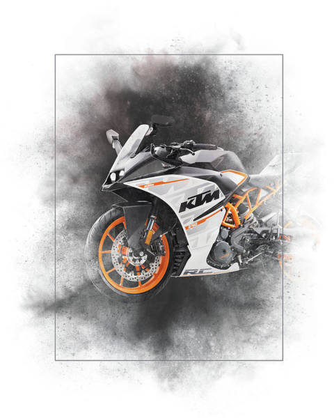 Wall Art - Mixed Media - Ktm Rc 390 Painting by Smart Aviation