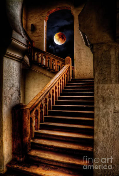 Wall Art - Photograph - Ktm Stairway Moon by Adrian Evans