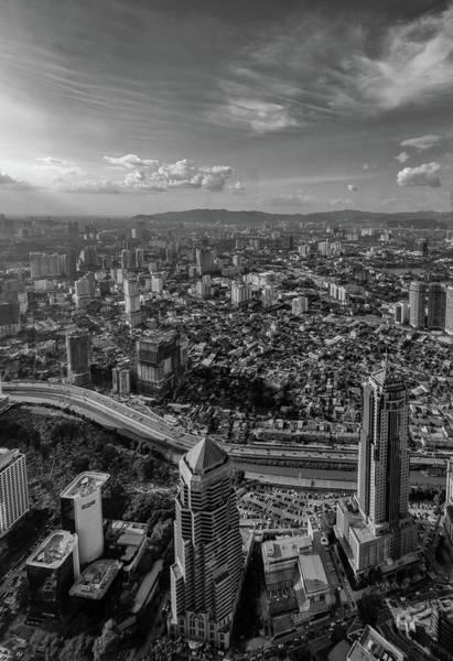 Photograph - Kuala Lumpur In Mono by Georgia Fowler