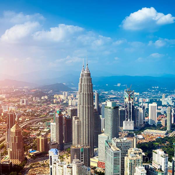 Urban Scene Wall Art - Photograph - Kuala Lumpur Skyline, Malaysia by R.nagy