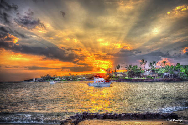 Wall Art - Photograph - Kukuiula Bay Small Boat Harbor Sunset 8 Kauai Hawaii Art  by Reid Callaway