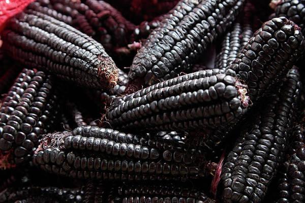 Wall Art - Photograph - Kulli Black Incan Corn Cobs, San Pedro by David Wall