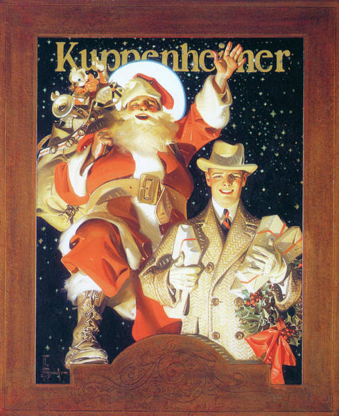 Wall Art - Painting - Kuppenheimer Merry Christmas -  by Joseph Christian Leyendecker