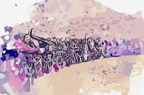 Painting - Kurdish Dance Watercolor By Ahmet Asar by Ahmet Asar