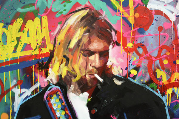 Dave Grohl Painting - Kurt Cobain II by Richard Day