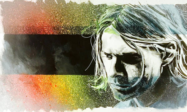 Painting - Kurt Cobain by Joel Tesch