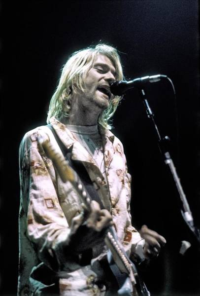 Photograph - Kurt Cobain Live by Michael Ochs Archives