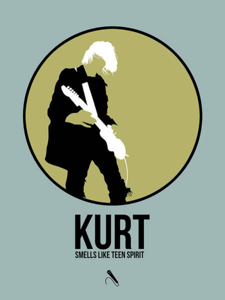 Hard Rock Wall Art - Digital Art - Kurt Cobain by Naxart Studio