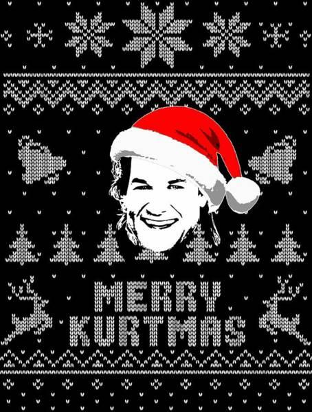 Wall Art - Digital Art - Kurt Russell Merry Kurtmas Christmas Shirt by Filip Hellman