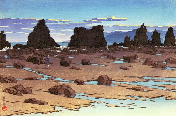 Wall Art - Painting - Kushimoto Hashiguiiwa - Digital Remastered Edition by Kawase Hasui