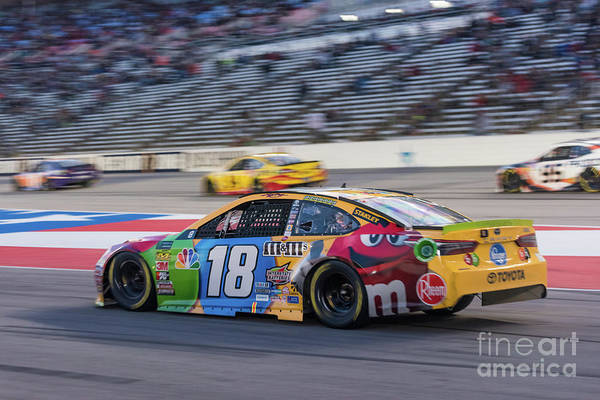 Photograph - Kyle Busch Coming Into The Pits by Paul Quinn