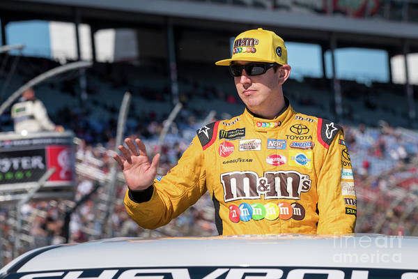 Photograph - Kyle Busch On His Parade Lap by Paul Quinn