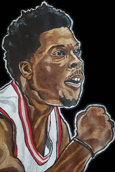 Painting - Kyle Lowry by Rachel Natalie Rawlins
