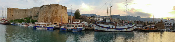 Photograph - Kyrenia Castle And Old Harbor Panorama 1 by Iordanis Pallikaras