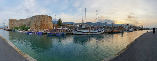 Photograph - Kyrenia Castle And Old Harbor Panorama 2 by Iordanis Pallikaras