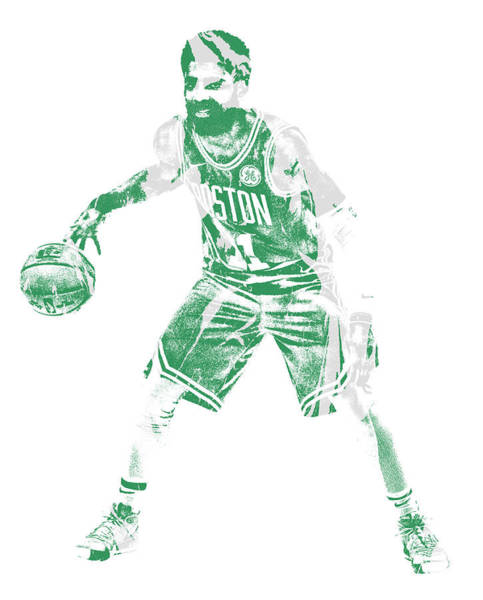 Wall Art - Mixed Media - Kyrie Irving Boston Celtics Pixel Art 72 by Joe Hamilton